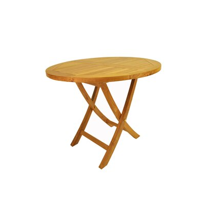 "Anderson Collections Bahama 35"" Round Bistro Folding Table"