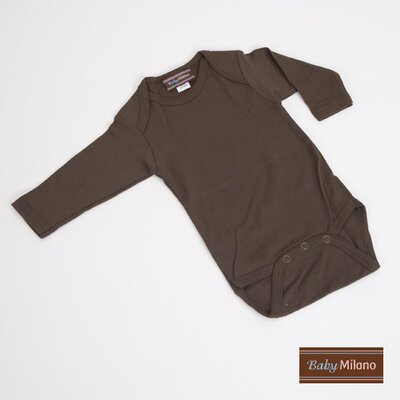 Baby Milano Long Sleeve Infant Bodysuit in Brown