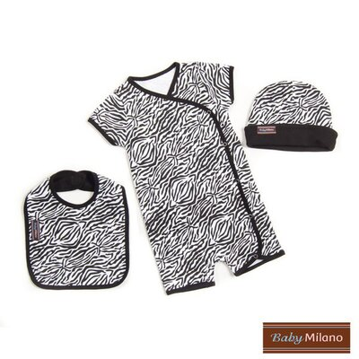 Baby Milano 3 Piece Baby Clothes Gift Set in Zebra Print