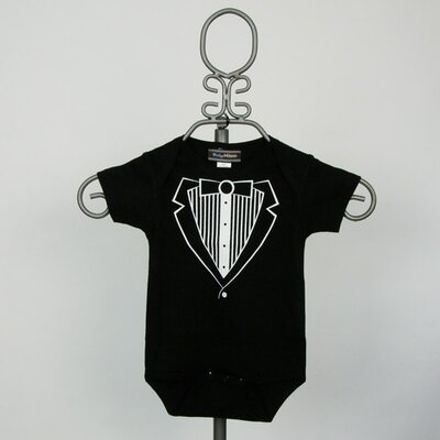 Infant Bodysuit in Black Tuxedo
