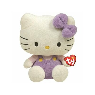 "TY Beanie Babies 6"" Hello Kitty in Lavender"
