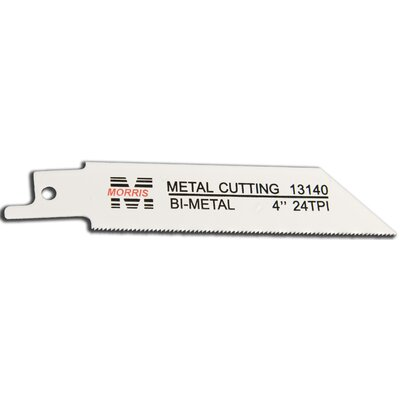"Morris Products 4"" x 0.75 x 0.5"" Reciprocating Saw Blades Metal Cutting Blades"
