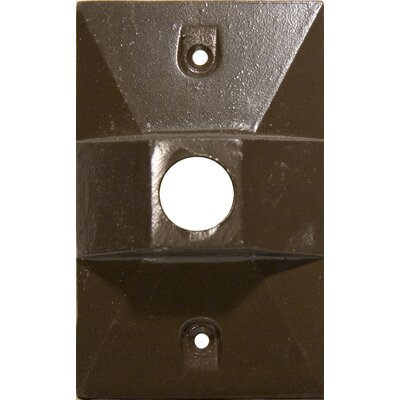 Morris Products One Hole Rectangular Lamp Holder One Gang Weatherproof Covers