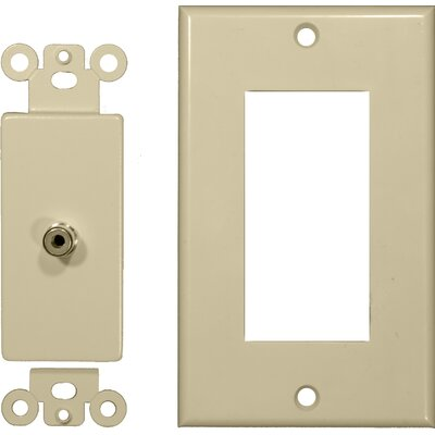Morris Products Single RCA Sound System Plates in Ivory