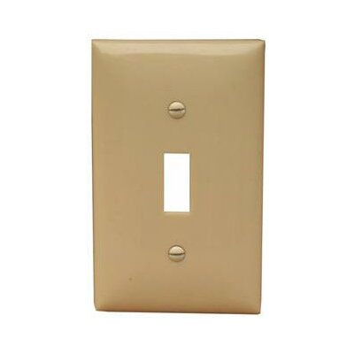Morris Products 1 Gang Midsize Lexan Wall Plates for Toggle Switch in Ivory