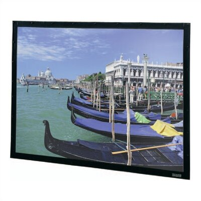 "Da-Lite High Contrast Da-Mat Perm-Wall Fixed Frame Screen - 68"" x 92"" Video Format"