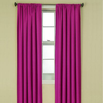 Eclipse Curtains Kendall Kids Blackout Window Panel in Raspberry