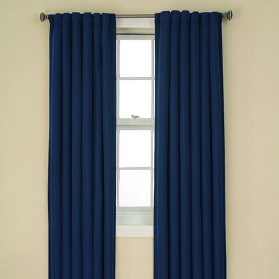 Eclipse Curtains Tavern BackTab Blackout Rod Pocket Window Curtain Single Panel