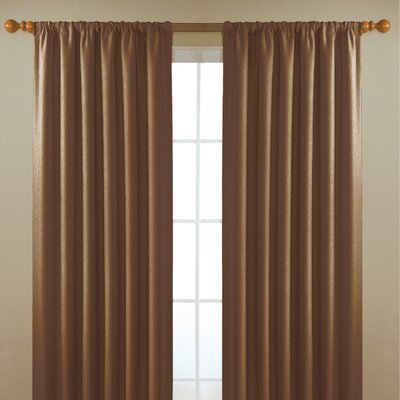 Eclipse Curtains Alfred  Rod Pocket Window Curtain Single Panel