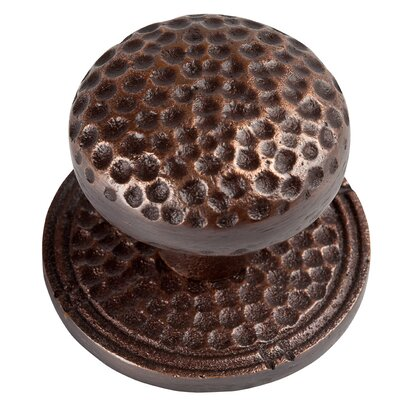 Large Round Hammered Copper Knob with Optional Backplate