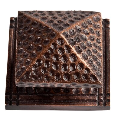 Large Square Hammered Copper Knob with Optional Backplate