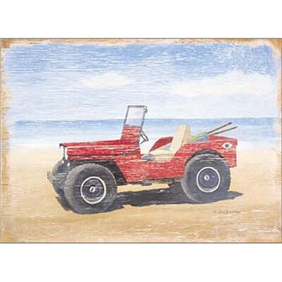 Art 4 Kids Red Beach Buggy Wall Art