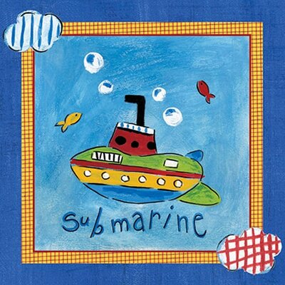 Art 4 Kids Go Man Go   Submarine Wall Art