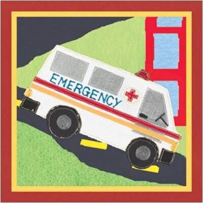 Art 4 Kids Rescue Ambulance Wall Art