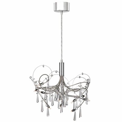 Dainolite Crystal Wafers 10 Light Chandelier