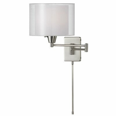 Dainolite Shade Within a Shade1 Light Swing Arm Wall Sconce