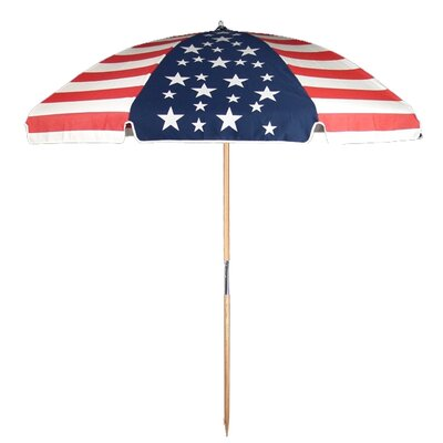 7.5' Commercial Grade American Flag Beach Umbrella
