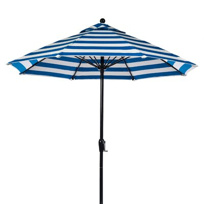 Frankford Umbrellas 9' Fiberglass Crank-up Striped Market Umbrella