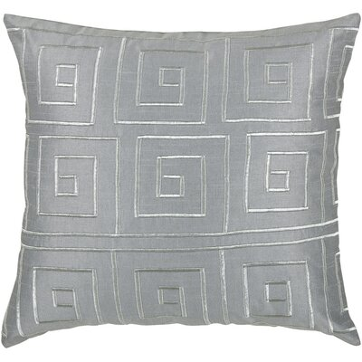 "Rizzy Home T-3441 18"" Decorative Pillow in Grey"