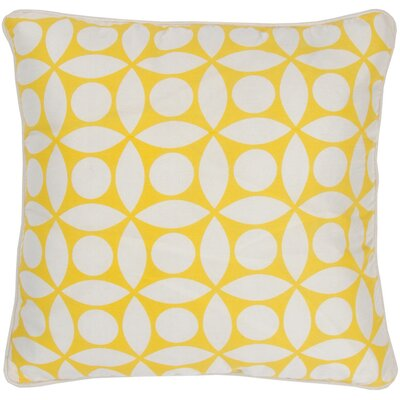 "Rizzy Home T-3599 18"" Decorative Pillow in Off White / Yellow"