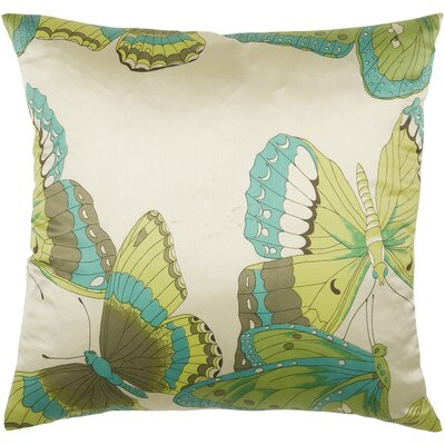 "Rizzy Home T-3787 18"" Decorative Pillow in Cream / Green"