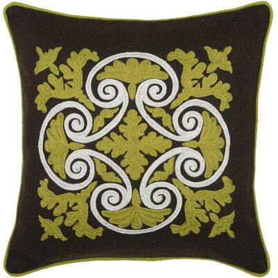 Rizzy Home T-3844 18&quot; Decorative Pillow in Brown