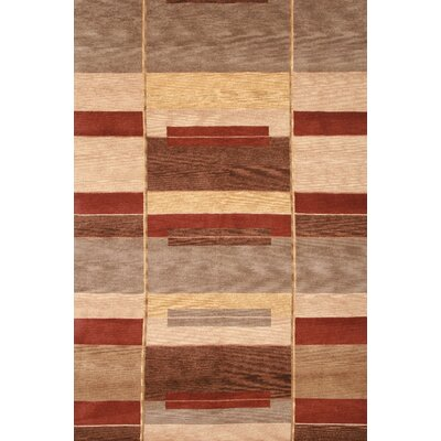 Rizzy Home Tango Tan/Red Bubblerary Rug