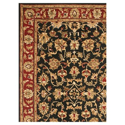 Rizzy Home Volare Black/Rust Rug