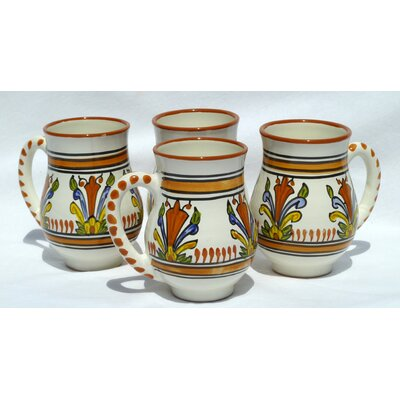 Le Souk Ceramique Sauvage Design 16 oz. Large Mug (Set of 4)
