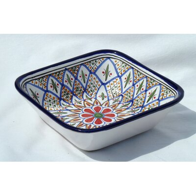 "Le Souk Ceramique Tabarka Design 8"" Pasta / Salad Bowl (Set of 4)"