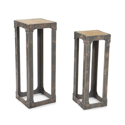 Moe's Home Collection Urbane Pedestal Plant Stand (Set of 2)