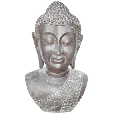 Moe's Home Collection Buddha Bust Statue in Silver