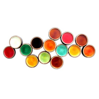 Moe's Home Collection Colorful Metal Circles Wall Decor