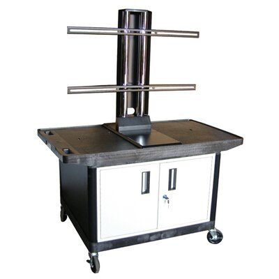 "Luxor Mobile Plasma / LCD Stand with Cabinet (27"" High)"