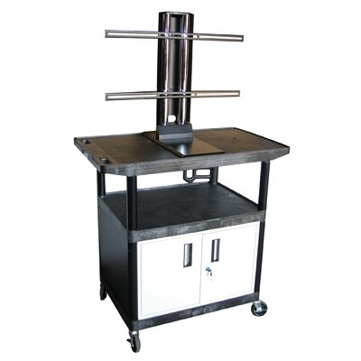 "Luxor Mobile Plasma / LCD Stand with Cabinet (40"" High)"