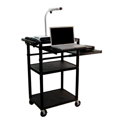 Luxor Plastic Presentation Station in Black with Laptop Shelf