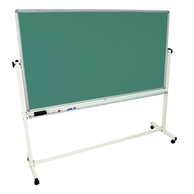 Luxor Mobile Magnetic Whiteboard 72&quot; x 40&quot; Silver Frame