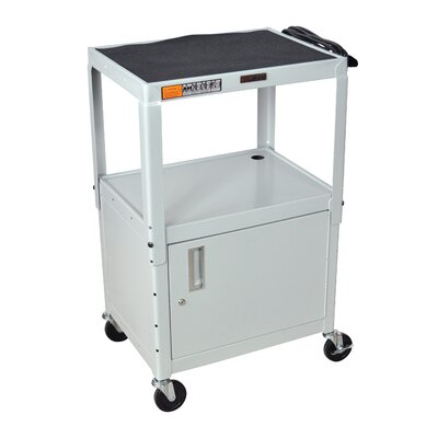 Luxor H Wilson Adjustable Height Cabinet AV Cart