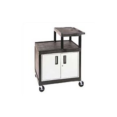 Luxor Stand-Up Table for Large Overhead Projectors with Locking Cabinet