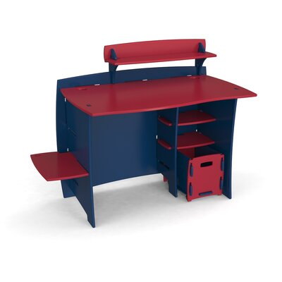 "Legare Furniture Kids 43"" Multi-Pack Desk with Shelves and Cart"