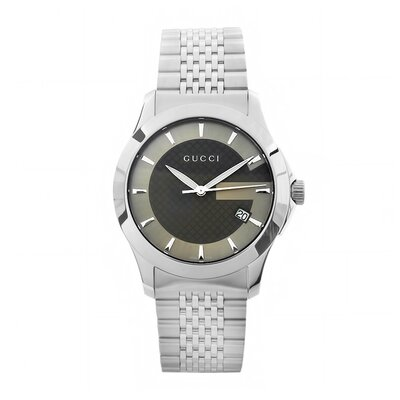 Men's Timeless Watch with Brown Dial and Stainless Steel Bracelet