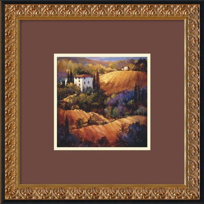 Evening Glow Tuscany by Nancy O'Toole, Framed Print Art - 18.17