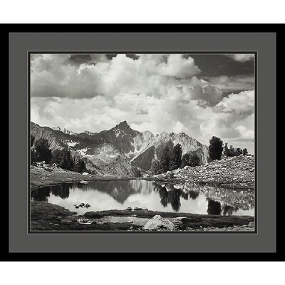 Mount Clarence King, 1925 by Ansel Adams, Black Matted Framed Print Art - 21.04