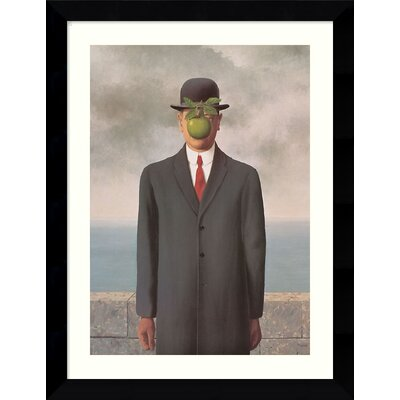 "Amanti Art Le Fils de l'Homme (Son of Man), 1964 by Rene Magritte, Framed Print Art - 30.62"" x 24.62"""
