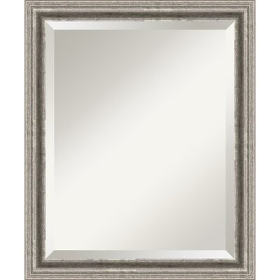 Bel Volto Medium Mirror in Burnished Antique Pewter