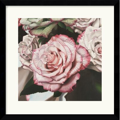 Vintage Rose Framed Art Print by Elizabeth Hellman