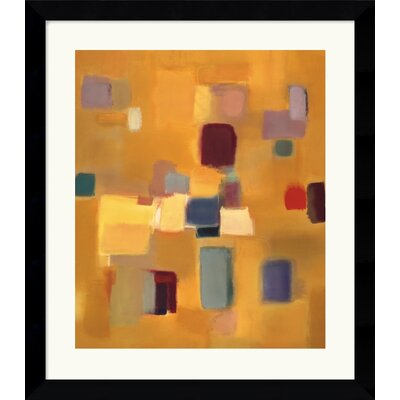 Amanti Art Song in Gold Framed Art Print by Nancy Ortenstone