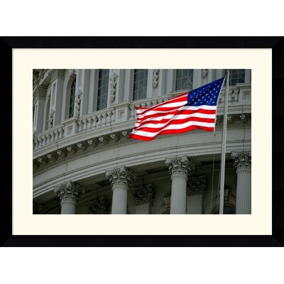 "Amanti Art Capitol Flag by Andy Magee Framed Fine Art Print - 28.62"" x 38.62"""