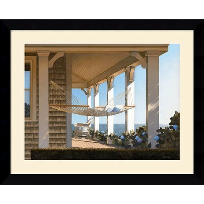 Seaside Hammock by Daniel Pollera Framed Fine Art Print - 25.62