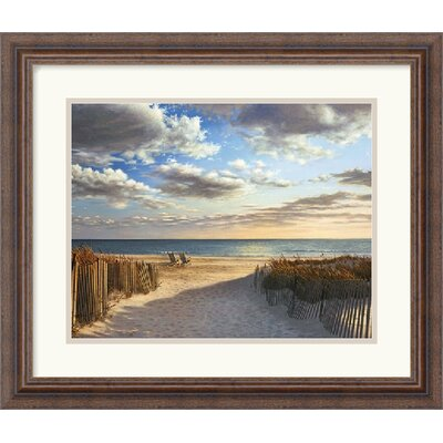 Sunset Beach by Daniel Pollera Framed Fine Art Print - 17.30